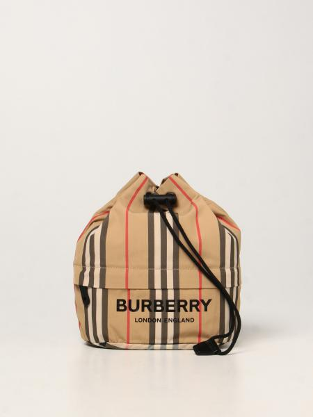 Burberry women: Burberry pouch bag with striped print