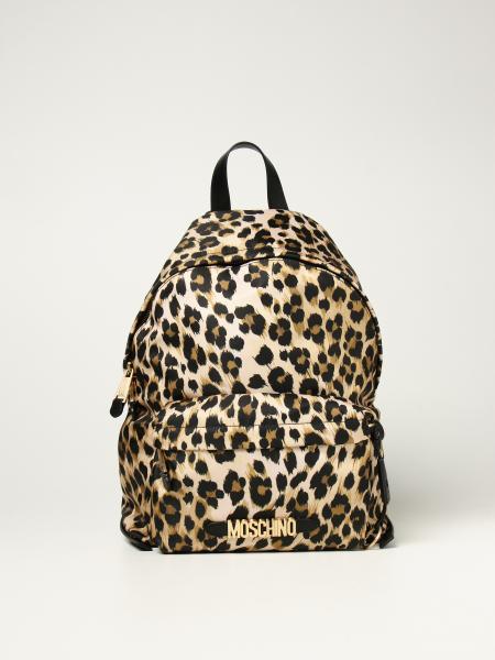 Moschino Couture rucksack in animalier nylon