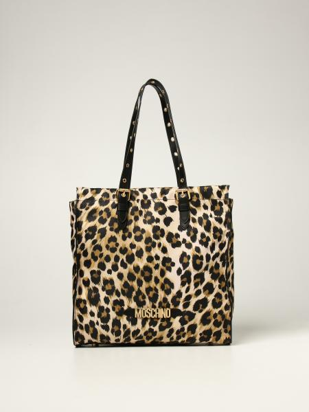 Moschino Couture shoulder bag in animalier nylon