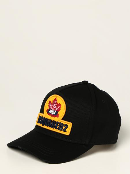 Dsquared2 men: Dsquared2 hat with logo patch