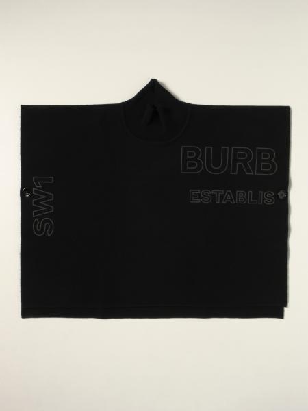 Burberry cape with big logo