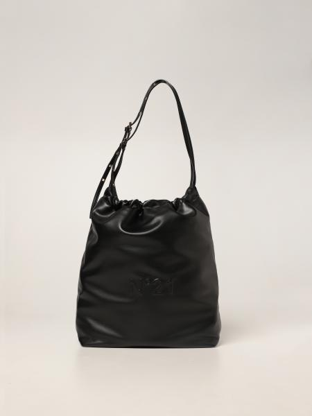 Eva Hobo bag N ° 21 in synthetic leather with logo