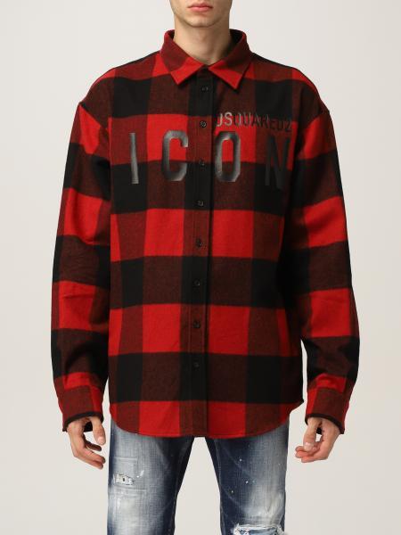 Dsquared2 uomo: Camicia di flanella Dsquared2 check