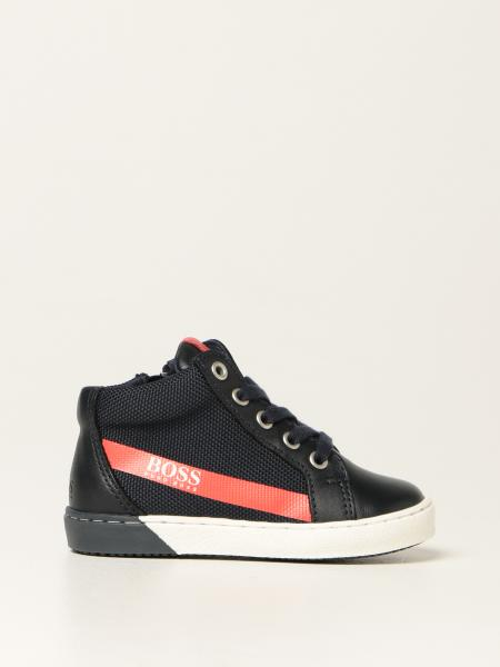 Hugo Boss sneakers in micro mesh and leather