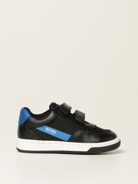 Hugo Boss trainers in micro mesh and leather