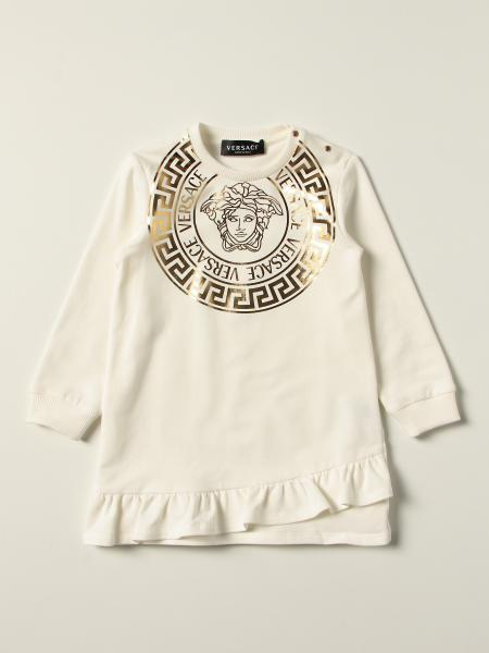 Versace Young cotton dress with laminated print