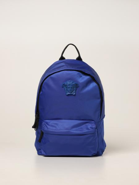 Versace Young nylon backpack with medusa head