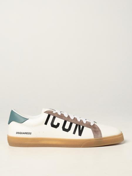 Dsquared2 uomo: Sneakers Dsquared2 in pelle e camoscio