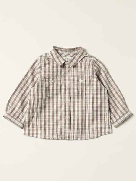 Bonpoint: Mico Bonpoint shirt in checked cotton twill