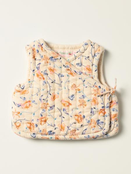 Bonpoint: Bonpoint sleeveless jacket with floral pattern