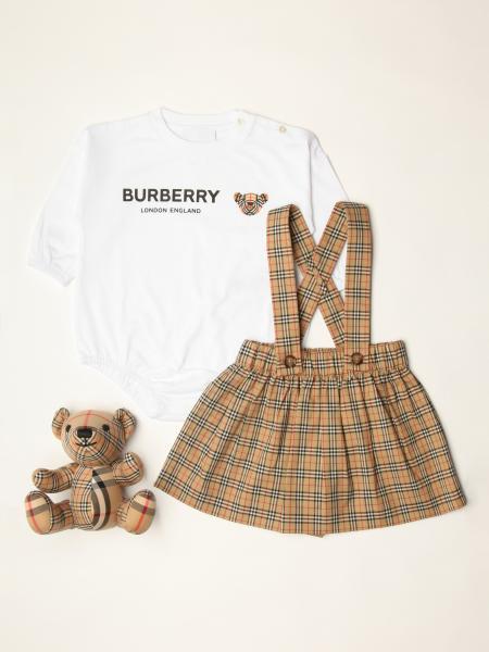 Burberry body + dungarees + bear set