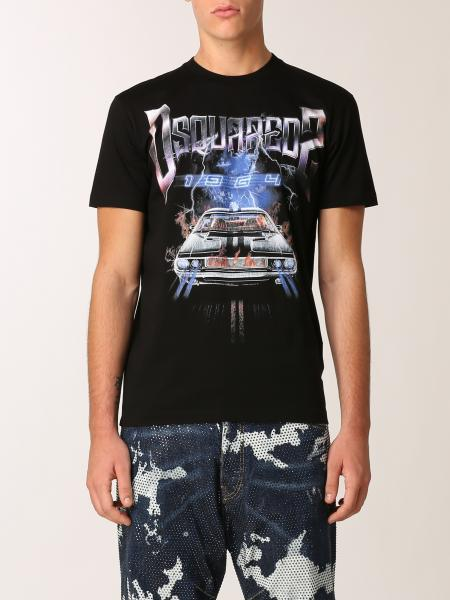 T-shirt Dsquared2 in cotone con stampa