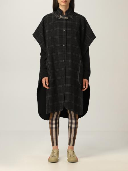 Burberry cape in double faced check wool
