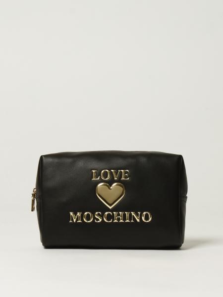 Beauty case Love Moschino in pelle sintetica