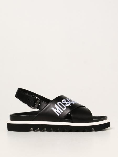 Fussbett Moschino Couture leather sandals