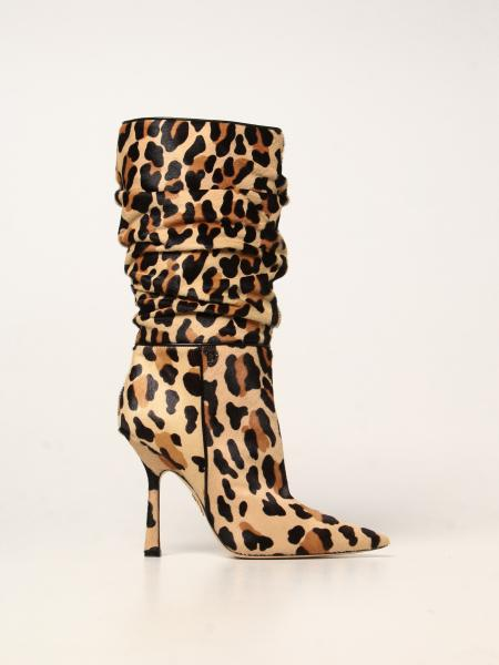 Moschino Couture ankle boot in animalier pony