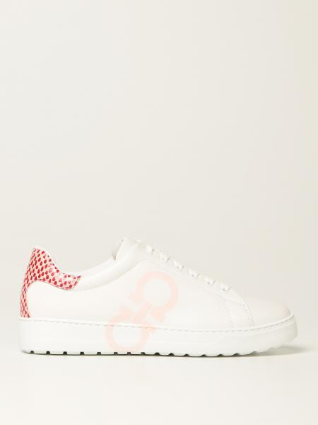Salvatore Ferragamo Gancini sneakers in leather