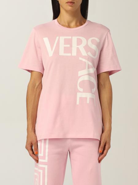 T-shirt Versace in cotone con logo