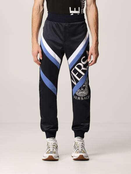 Versace men: Versace cotton joggers with Greca