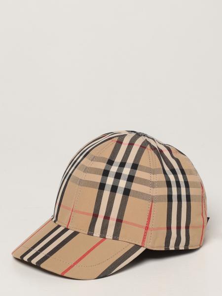 Burberry baseball cap in check cotton