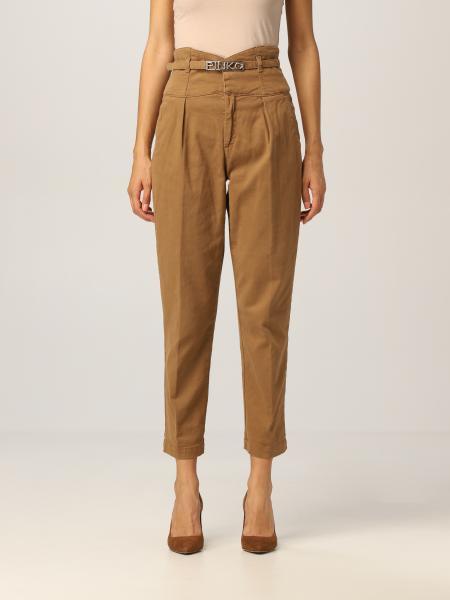 Pinko chino trousers with logoed belt