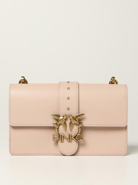 Borsa Love Classic Icon Simply Pinko in pelle di vitello