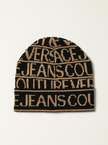 Versace Jeans Couture bobble hat with all over logo