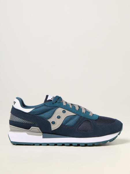 Saucony: Shadow Saucony trainers in suede and technical fabric
