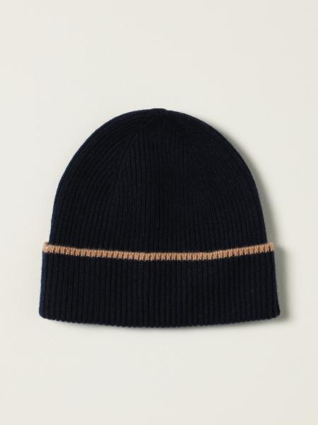 Cappello a berretto Eleventy in cashmere a coste