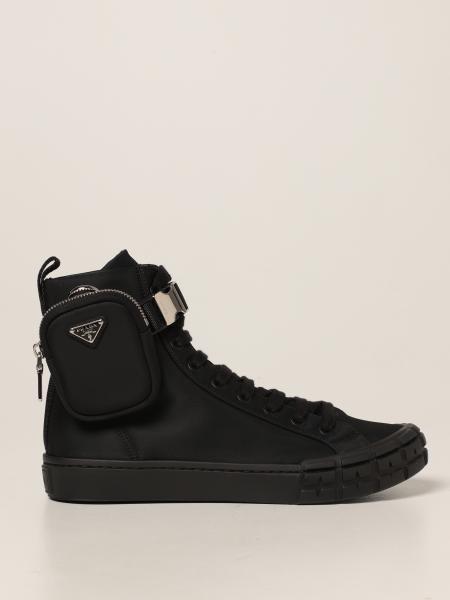 Prada men: Wheel Prada ankle boots in Re-Nylon gabardine