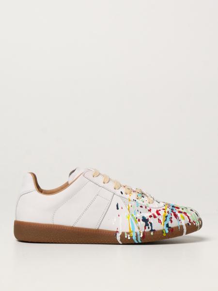 Sneakers Replica Maison Margiela in pelle con pittura