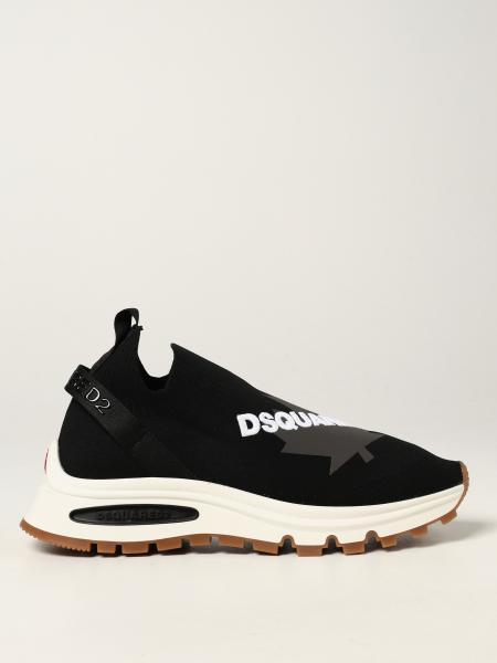 Dsquared2 uomo: Sneakers Runds2 Dsquared2 in maglia stretch