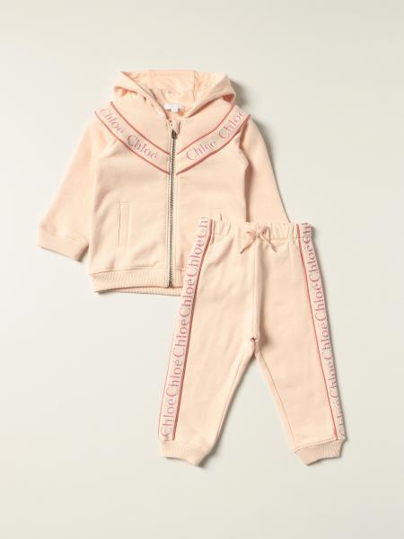 Set felpa + pantalone Chloé con bande logate