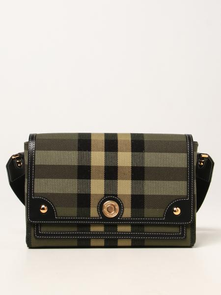 Burberry women: Burberry Note shoulder bag in canvas