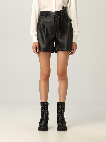 Shorts with Liu Jo belt in coated fabric