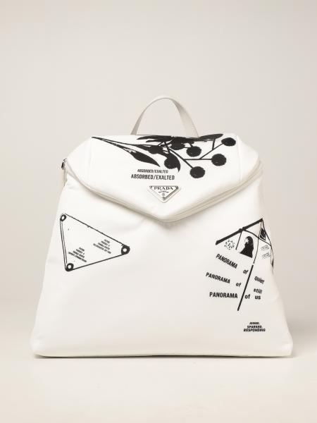 Prada women: Signaux Prada rucksack in printed nylon