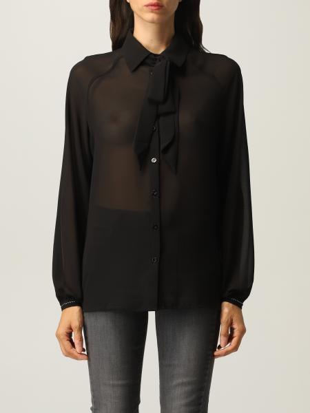 Liu Jo sash shirt in georgette