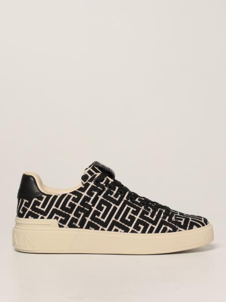 Sneakers Balmain in tessuto monogram
