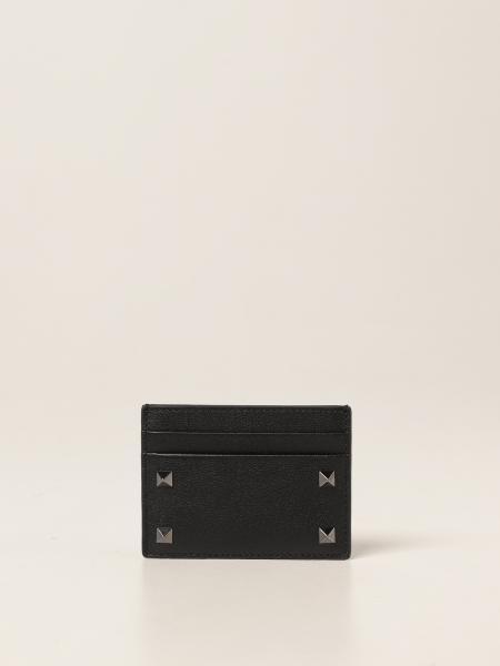 Porta carte di credito Valentino Garavani con borchie