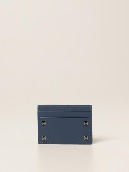 Valentino: Porta carte di credito Valentino Garavani con borchie