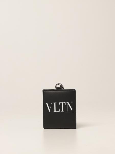 Valentino: Portafoglio Valentino Garavani in pelle con logo VLTN