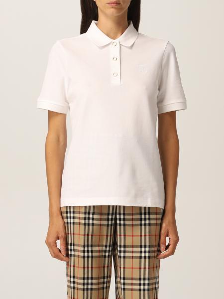 Burberry polo shirt in cotton piqué with monogram