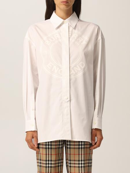 Burberry Oxford shirt in cotton with logo