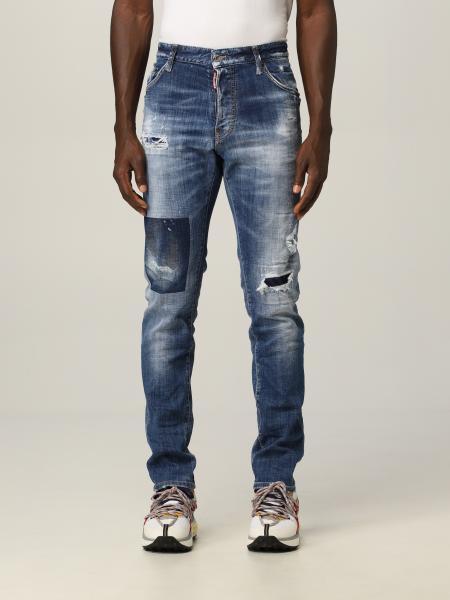 Jeans slim Dsquared2 in denim usured