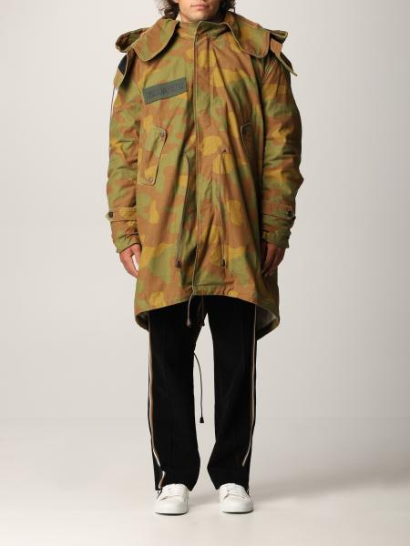 Dsquared2 parka in camouflage canvas