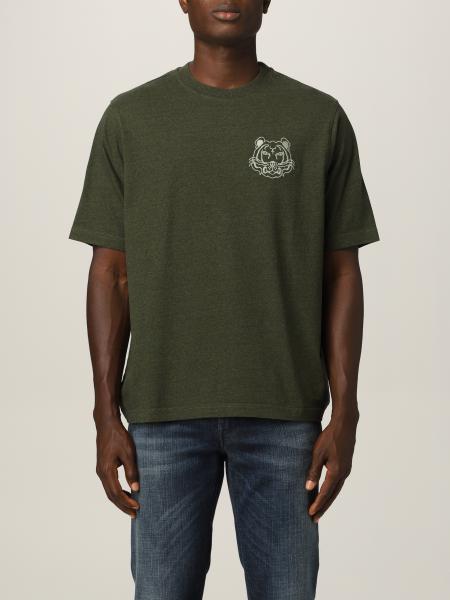 Kenzo uomo: T-shirt Kenzo con tigre ricamata