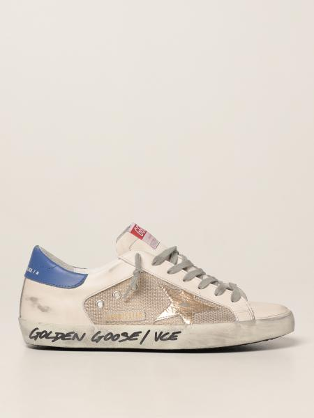 Golden Goose men: Super-Star Golden Goose trainers in leather and mesh