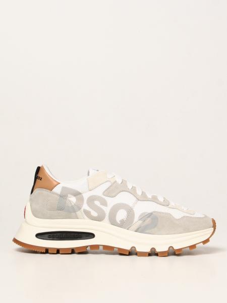 Dsquared2 uomo: Sneakers Dsquared2 in mesh e camoscio