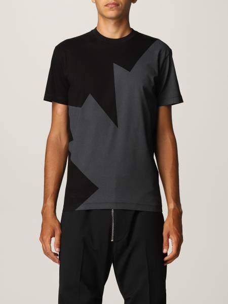 T-shirt Dsquared2 in cotone con foglia d'acero