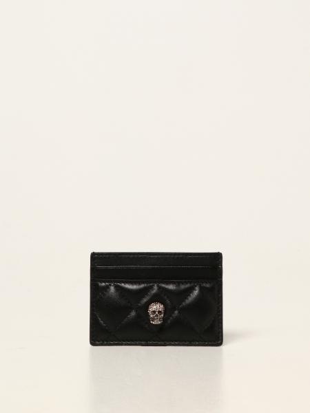 Porta carte di credito Alexander McQueen in pelle matelassé
